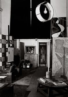 Interior of Man Ray's studio, Paris, France (unpublished) 1953-57 - Guy Bourdin