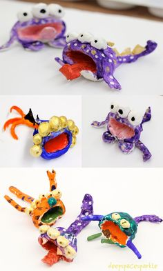 Pinch Pot Monsters {from Deep Space Sparkle}