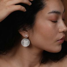 Reflection Earrings - Silver Well Made Clothes