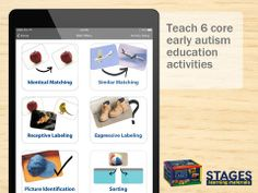 The Language Builder from Stages App teaches 6 Language Education Activities to children with autism. Speech Language Pathology, Speech And Language, Picture Identification, Special Needs Resources, Autism Education, Autism Support, Teaching Technology, Picture Cards, Educational Activities