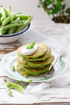 placki z zielonego groszku, green pea pancakes #placki #pancakes #groch #pea