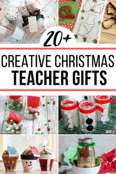 20 DIY Christmas Gifts for Teachers! These clever teacher gifts are so sweet! 20 DIY Christmas Gifts for Teachers! These clever teacher gifts are so sweet! Creative Christmas Gifts, Teacher Christmas Gifts, Handmade Christmas Gifts, Homemade Christmas, Holiday Crafts, Christmas Diy, Creative Gifts, Homemade Teacher Gifts, Homemade Gifts