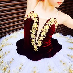 Stunning burgundy and gold tutu