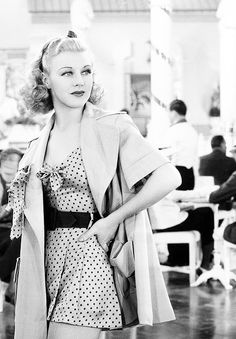 Ginger Rogers, love her hair & outfit!