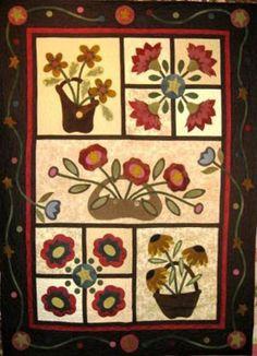 A Quilt Patch pattern Co Design Wool Applique Quilts, Wool Applique Patterns, Wool Quilts, Hand Applique, Felt Applique, Quilt Patterns, Appliqué Quilts, Mini Quilts, Applique Designs