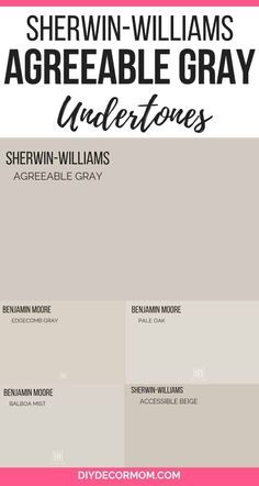 See how Agreeable Gray by Sherwin-Williams looks in real kitchens, bedrooms, bathrooms! Plus, see its undertones compared with similar greige paint colors like Revere Pewter. Plus tips for creating the perfect color scheme and palette for your home!