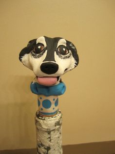 Customize Your Dog  Wine Stopper III by WolfsFolkArt on Etsy, $18.00
