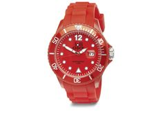 A splash of red makes any outfit stronger.  Red Lolliclock Watch available at www.lolliclock.com.au