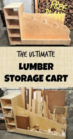 Lumber Storage Cart, Naturally remove rust with these hacks Organize Your Lumber Pile by Building This Easy Portable Lumber Rack! The Ultimate Lumber Storage Cart : 6 Steps (with Pictures) The Ultimate Lumber Storage Cart Lumber Storage Rack, Craft Storage Cart, Lumber Rack, Diy Storage, Plywood Storage, Mobile Storage, Wall Storage, Garage Storage, Storage Ideas