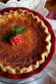 I ate this pie almost 15 years ago - my English teacher made it for a fundraiser and I instantly fell in love with it. This is a must try - Buttermilk Pie Recipe Just Desserts, Delicious Desserts, Yummy Food, Pie Recipes, Dessert Recipes, Cooking Recipes, Goody Recipe, Buttermilk Pie, Pie Dessert