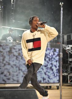A$AP Rocky performing wearing that Hilfiger
