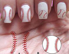 pack of baseball vinyl nail