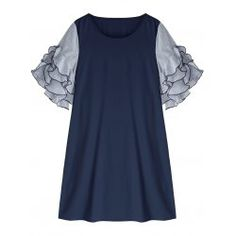 Shop plus size dresses for women with wholesale cheap price and fast delivery, and find more womens cute sexy trendy plus size dresses & bulk plus size dresses online with drop shipping. Trendy Plus Size Dresses, Plus Size Outfits, Plus Clothing, Ruffle Sleeve, Dresses Online, Sexy Women, Drop, Womens Fashion, Blue