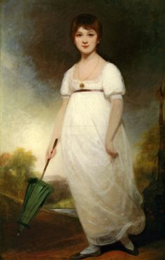 Word Wenches -- On Parasols & Brollies. (In England, before 1800, parasols were invariably made of green fabric, perhaps because the green-tinted shade would moderate a rosily flushed complexion. (Image is purposed to be Jane Austen at age 13 by Ozias Humphry, 1788. See https://en.wikipedia.org/wiki/The_Rice_portrait)