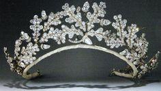 A very tall, delicate diamond floral tiara. An oak leaf tiara complete with diamond acorns. A ducal strawberry leaf tiara. Royal Crowns, Royal Tiaras, Crown Royal, Tiaras And Crowns, Antique Jewelry, Vintage Jewelry, Greek Jewelry, Royal Jewelry, Royals