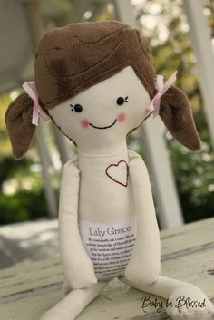 Miss Libby doll - you design and a special message to write on the belly