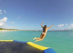 water trampoline at rendezvous bay