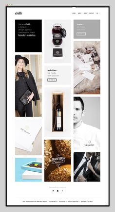 Website Inspiration / -Like the cropping of the photos: half face, only tie and midsection.