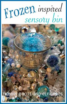 rubberboots and elf shoes: Frozen inspired sensory bin