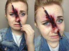 Pencil Through the Nose SPFX Makeup Tutorial