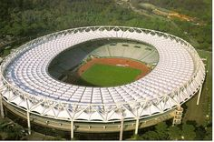 Football Stadium Stadio Olimpico in Rome, Italy. Home of AS Roma and Lazio Roma.