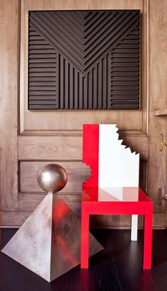 Out-of-the-box chair and pyramid adds drama and allure #kellywearstlerXdomaine