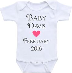 d9bfb051b Pregnancy Announcement Onesies® brand Gerber Onesie Bodysuit. Personalized  birth announcement, Pregnacy Reveal, Grandparents Gift