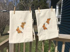 I've been hard at work sewing, stamping, and painting these handmade cotton tote bags celebrating the monarch butterfly! They will be launched Sat, May 4th at New Glasgow's Art at Night (@NGsArtAtNight)! #novascotiaartist #queerartist #artwitch #makemindfulart #canadianartist