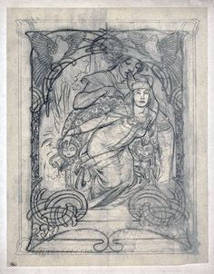 Alphonse Mucha, original pencils