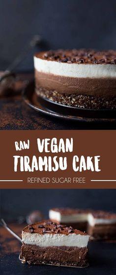 Raw Vegan Tiramisu Cake   No refined sugar   Italian friends approved!