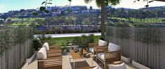 Terrace in the Green Golf townhouses where you can enjoy the sunshine in the Spanish coast