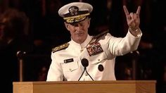 """""""If you want to change the world, start off by making your bed. """"And if by chance, you have a miserable day, you will come home to a bed that is made—that you made—and a made bed gives you encouragement that tomorrow will be better."""" Adm. William H. McRaven, USN  University of Texas, Austin,  Commencement Address 2014"""