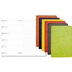 Reflexa agenda settimanale 16 mesi bi-colors in vivella 2015 flessibile - 12x20 - grigio
