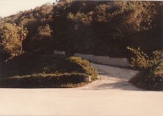The turnoff from Cielo Drive.