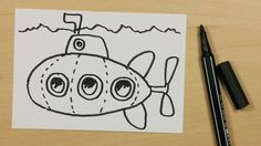 How to Draw a Submarine or U-Boat - Easy Cartoon Doodle for Kids [85] - https://youtu.be/FK8QINFqgKY - Subscribe: https://www.youtube.com/channel/UCzp_6nj33P39unKIBTNvXkQ?sub_confirmation=1