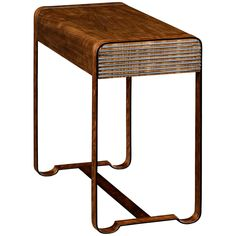 Jonathan Charles 50's Americana Side Table with Steel Details