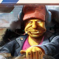 Grand Theft Otto #GTA #Simpsons #otto #racing