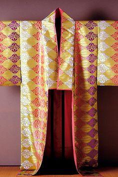 "A Uchigi ceremonial court robe --   ""'Woven Treasures of Japan's Tawaraya Workshop"" fills two rooms of the Textile Museum"