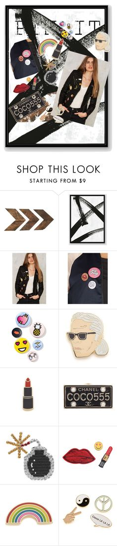 """""""Pin it or Fake it"""" by yourlittlemarie ❤ liked on Polyvore featuring WALL, West Elm, Glamorous, VILA, Bing Bang, Georgia Perry, Chanel, Shourouk, Decree and Simons"""