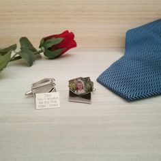 Personalised Cufflinks Envelope Memory Charm S Memorial In Of