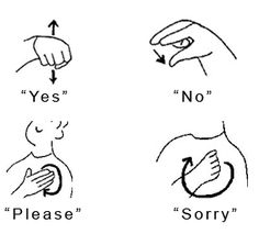 Do you do sign language with your kids? I have since my LO was 18 months, and my 9 year old does it, too It is never too late for them to learn! I start with one and use it all the time, asking for the kids to repeat me. Once they have it down I will add another one    https://www.facebook.com/photo.php?fbid=617533418276750=pb.565415993488493.-2207520000.1366427612.=3=https%3A%2F%2Fsphotos-a.xx.fbcdn.net%2Fhphotos-ash3%2F524792_617533418276750_1900841031_n.png=282%2C255