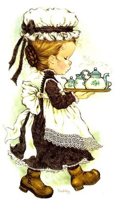Sarah Kay Sarah Key, Sara Key Imagenes, Vintage Pictures, Cute Pictures, Dibujos Cute, Sweet Pic, Holly Hobbie, Vintage Paris, Freelance Illustrator