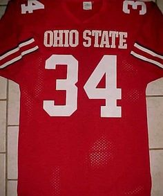 a414ab7ae Ohio State Buckeyes  34 NCAA Big Ten Sports Belle Red White Jersey M (eBay