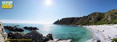 Capo Vaticano, spiaggia di Grotticelle in una bella #fotografia panoramica.
