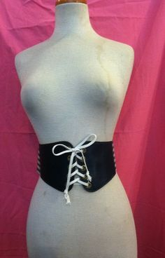 Vintage Gingham Lace Up.Belt Size 25-27 Inches by Flipsville