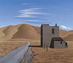 Road, Building, Clouds by Brent Wong New Zealand Art, Nz Art, Home Art, Landscape Paintings, Monument Valley, Clouds, Artists, Building, Travel