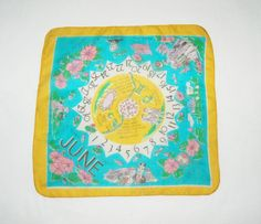 Vintage silk June scarf by HappyCloudImports on Etsy, $8.00