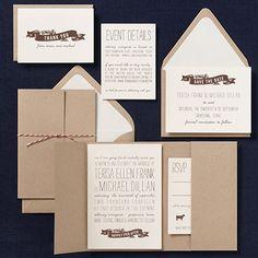 gold scallops wedding invitation - pat & chris | paper source, Wedding invitations