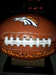 Broncos Football Light up by ThisIMadeForYou on Etsy