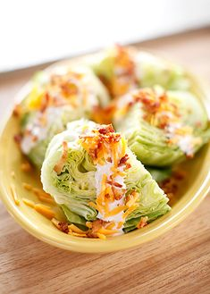 Lettuce wedge From Ree Drummond aka The Pioneer Woman (Food Network) These look so yummy!!